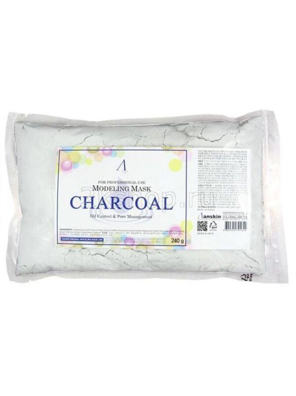 Маска альгинатная Charcoal Oil Control Pore 240 г. Anskin