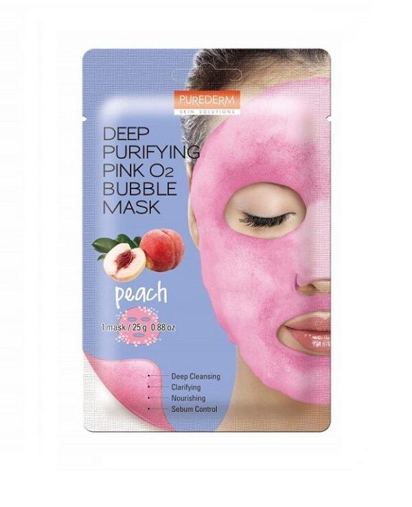 Маска Deep Purifying Pink O2 Bubble Purederm