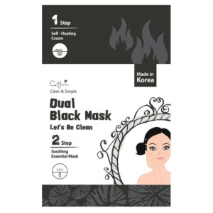 Маска очищающая Dual Black Mask Let's Be Cettua