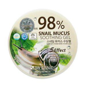 Гель улиточный 98% Snail Mucus 3W CLINIC