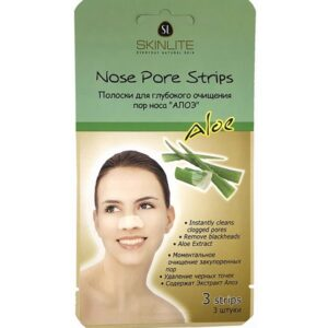 Патчи Nose Pore Strips Aloe Skinlite